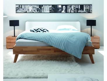 Hasena Wood-Line Massivholzbett Classic Leno/Boga 180x200 cm / Buche walnuss