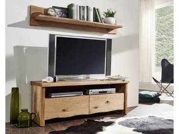 3S Frankenmöbel Massivholz Wildeiche TV-Element Duo Zingst B 130 x H 50 x T 45 cm, geölt