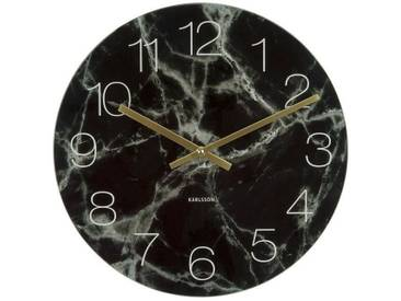 Present Time Wanduhr Glass Marble Weiß