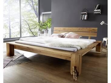 3S Frankenmöbel Massivholzbett Wildeiche 140x200 cm