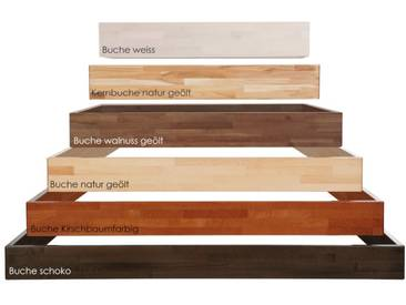 Hasena Wood-Line Bettrahmen Classic 16 Massivholz 160x220 cm Buche kirschbaumfarbig