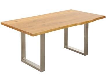 3S Frankenmöbel Massivholz Esstisch Zingst 220x100 cm / Eisen natur lackiert