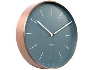 Present Time Wanduhr Minimal Blau