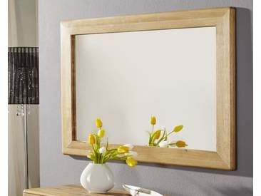 3S Frankenmöbel Massivholz Wandspiegel Corner Wildeiche hell geölt 100 x 70 x 30 cm