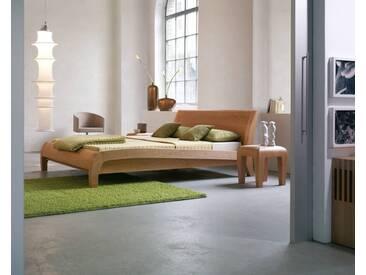 Dormiente Massivholz-Bett Beluga Wildeiche geölt 140x200 cm