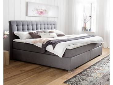 meise.möbel Boxspringbett Lenno ohne Matratze / 160x200 cm / ohne / grau / glatt