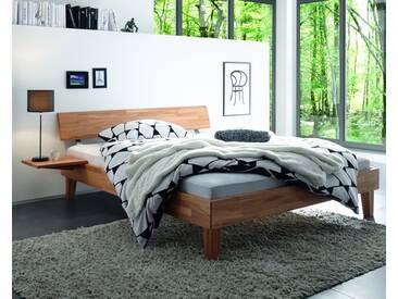 Hasena Wood-Line Massivholzbett Classic Juve/Rino 200x200 cm / Kernbuche natur