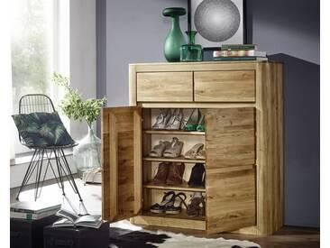 3S Frankenmöbel Massivholz Schuhschrank Corner Wildeiche geölt / 100 x 111 x 37 cm