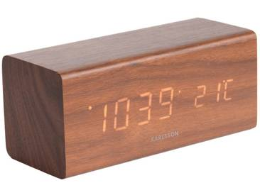 Present Time Tischuhr Block Braun