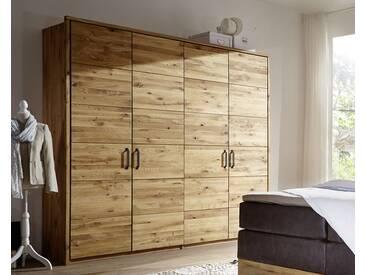 3S Frankenmöbel Massivholz Drehtüren Kleiderschrank Wildeiche SZ-0124 / 3-türig / 184 x 216 x 60 cm