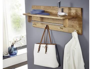 3S Frankenmöbel Massivholz Garderobenpaneele Corner Garderobe 2 / 81 x 30 x 24 cm / Wildeiche hell geölt