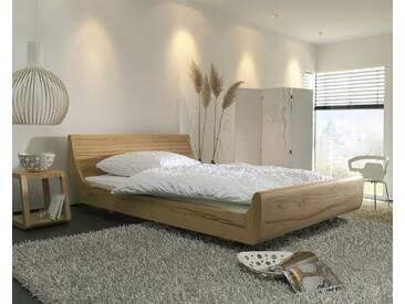 Dormiente Massivholz-Bett Mola Nussbaum 140x200 cm