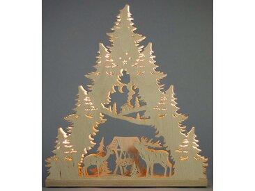 Weigla Schwibbogen »Hirschfamilie«, 7-flammig, natur, natur