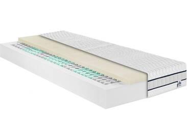 Irisette Taschenfederkernmatratze »Stralsund TFK«, 22 cm hoch, 390 Federn, mit einer weichen-elastischen Latexauflage, ca. 22 cm, weiß
