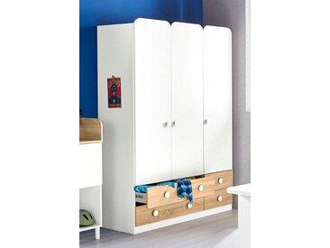 rauch Kleiderschrank »Filipo«, weiß, Schubladen: 4 - Türen: 3, weiß/struktureichefarben hell