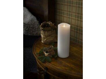 KONSTSMIDE LED Duftkerze, flackernd, weiß, Höhe 23cm, Lichtquelle warm-weiß, Weiß