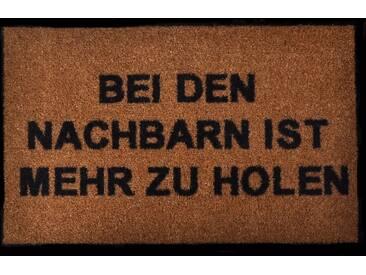 HANSE Home Fußmatte »Nachbarn«, rechteckig, Höhe 7 mm, rechteckig, natur, 7 mm, beige