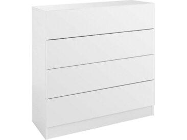 borchardt Möbel Borchardt Möbel Kommode »Vaasa«, Breite 76 cm, mit Push To Open-Funktion, weiß, weiß matt