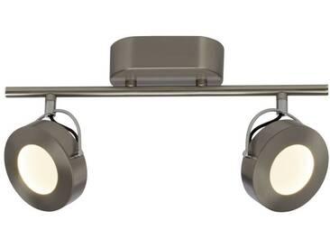 AEG Allora LED Spotrohr 2flg eisen/chrom easyDim, silberfarben, eisen/chrom