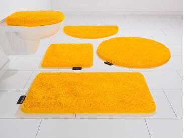 Bruno Banani Badematte »Lana« , Höhe 25 mm, rutschhemmend beschichtet, fußbodenheizungsgeeignet, gelb, 25 mm, lemon