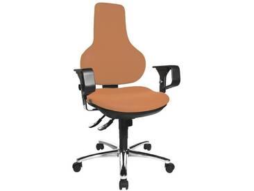 TOPSTAR Bürostuhl mit Armlehnen »Ergo Point SY Deluxe«, orange, orange