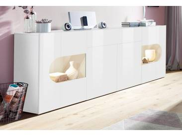 Tecnos Sideboard »Real«, Breite 220 cm, weiß, weiß Hochglanz