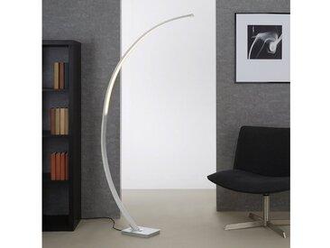 Briloner Leuchten LED Bogenlampe »Svenja«, 1-flammig, Stehleuchte dimmbar, 1.950 Lumen, warmweiß, silberfarben, 1 -flg. /, aluminiumfarben