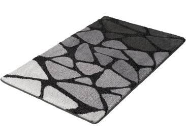 Kleine Wolke Badematte »Inspire« , Höhe 15 mm, rutschhemmend beschichtet, fußbodenheizungsgeeignet, grau, 15 mm, schiefer