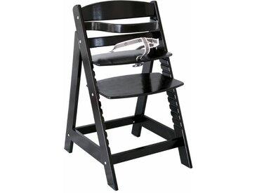Roba® Roba Hochstuhl aus Holz »Treppenhochstuhl Sit up III, schwarz«, schwarz, schwarz