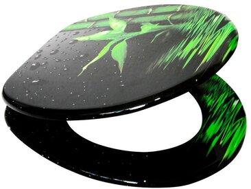 Sanilo SANILO WC-Sitz »Virella«, mit Absenkautomatik, grün, schwarz/grau/grün