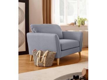 Home affaire Sessel »Marseille«, in skandinavischem Stil, in 3 Bezugsqualitäten, mit Holz-Beinen, grau, mittelgrau