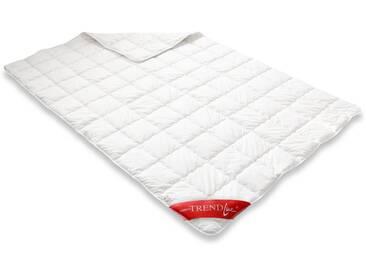 Badenia Naturfaserbettdecke, »Clean Cotton leicht«, leicht, Füllung: 100% Baumwolle, Bezug: 100% Baumwolle, (1-tlg), weiß