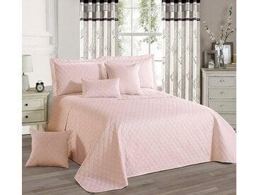 Delindo Lifestyle Tagesdecke »Premium«, mit Rauten-Steppung, rosa, rosa
