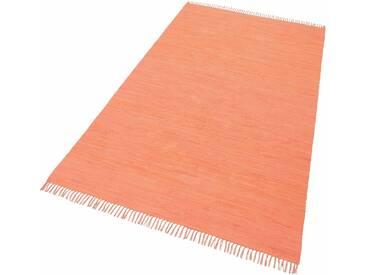 THEKO Teppich »Happy Cotton«, rechteckig, Höhe 5 mm, beidseitig verwendbar, braun, 5 mm, terra