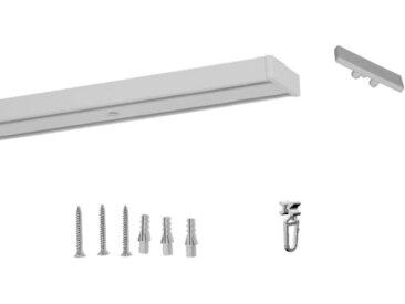 indeko Schienensystem »Objektschiene«, 2-läufig, Wunschmaßlänge, weiß, weiß