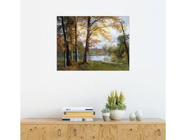 Posterlounge Wandbild - Albert Bierstadt »Ein ruhiger See«, bunt, Holzbild, 160 x 120 cm, bunt