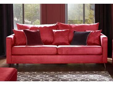 Guido Maria Kretschmer Home&Living 3-Sitzer »Renesse«, lose Kissen, Keder an Sitzkissen, rot, 203 cm, rot