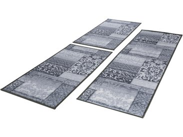 Andiamo Bettumrandung »Jarama« , höhe 6 mm, (3-tlg), Kurzflor, Orient-Optik, grau, grau
