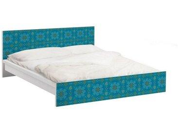 Bilderwelten Möbelfolie für IKEA Malm Bett niedrig 140x200cm »Orientalisches Ornament Türkis«, bunt, Farbig