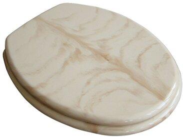 ADOB WC-Sitz »Marmor«, extrem stabil mit Edelstahlscharnieren, beige