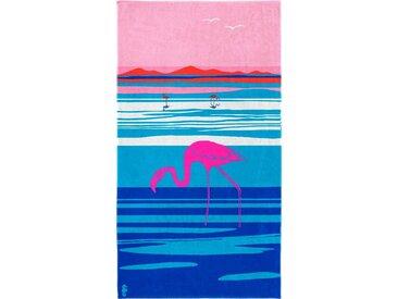 Seahorse Strandtuch »Panorama«, blau, Jaquard-Velours, blue