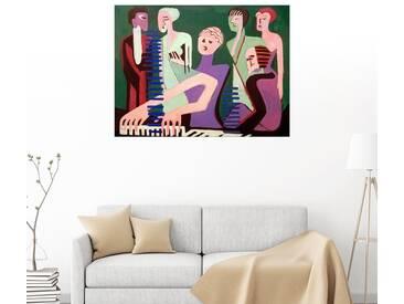 Posterlounge Wandbild - Ernst Ludwig Kirchner »Sängerin am Piano«, bunt, Poster, 80 x 60 cm, bunt