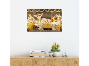 Posterlounge Wandbild - Albert Joseph Moore »Eine Sommernacht«, bunt, Holzbild, 180 x 120 cm, bunt