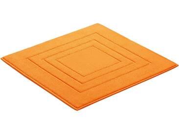 Vossen Badematte »Feeling« , Höhe 10 mm, fußbodenheizungsgeeignet, gelb, 10 mm, amber