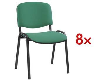 NOWYSTYL 8er-Set Stapelstühle schwarzes Gestell 1 Set, grün, grün