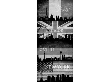 living walls Bordüre »pop.up Panel 94249«, gemustert, Made in Germany, natur, beige-grau-schwarz