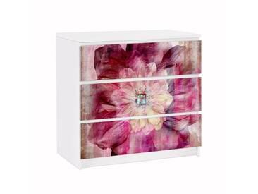 Bilderwelten Möbelfolie für IKEA Malm Kommode »Grunge Flower«, bunt, Farbig
