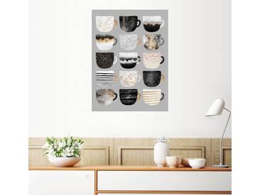 Posterlounge Wandbild - Elisabeth Fredriksson »Pretty Coffee Cups 3 Grey«, bunt, Alu-Dibond, 90 x 120 cm, bunt