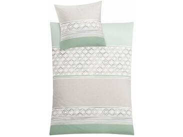 Kleine Wolke Bettwäsche »Sueno«, mit Muster, grün, 1x 135x200 cm, Mako-Satin, grün