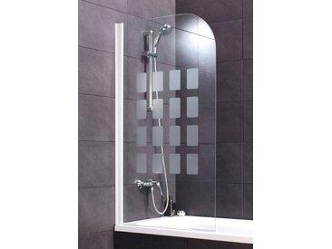 Schulte Badewannenaufsatz »Cubic«, weiß, mit Antikalk-Versiegelung, nur links montierbar, weiß